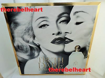 MADONNA Truth Or Dare 2012 UK PROMO LARGE DISPLAY STANDEE BOX Double Sided RARE
