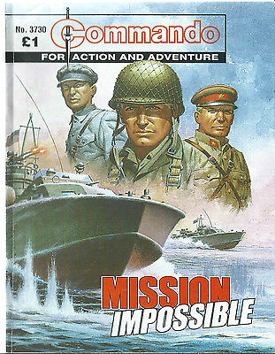 Mission Impossible,commando For Action And Adventure,no.3730,war Comic,2004