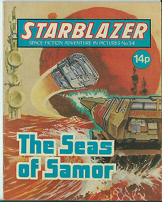 The Seas Of Samor,starblazer Space Fiction Adventure In Pictures,no.34,1980