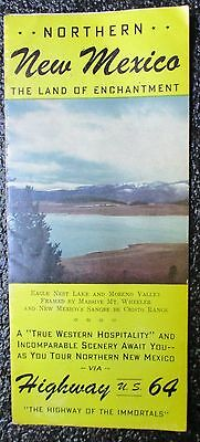 1940's  NORTHERN NEW MEXICO via HIGHWAY 64 BROCHURE