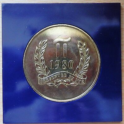 Moscow Olympics 1980 Medal - Presented By Pye