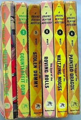 Brains Benton Mystery 6 Lot Golden Press hardcovers nos.1-6