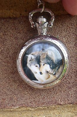 silver necklace pendant locket animal  wolf wolves watch 2017  love