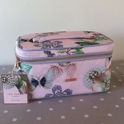 *bnwt* Ted Baker Large Pink Beauty Bag Jewellery Travel Case *lovely Gift*