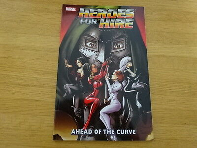 Rare Copy Of Heroes For Hire: Ahead Of The Curve Tpb Graphic Novel! Marvel!