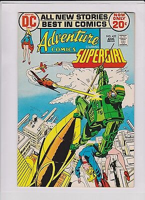 ADVENTURE #422 VF+, Supergirl, Mike Sekowsky art, tight crisp copy, DC 1972