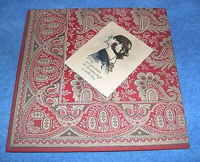 """Elderly Black Man Card on Red Cotton Fabric """"Old Ned""""?"""
