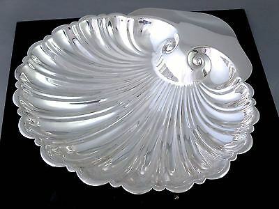 """Vintage SILVERPLATE LARGE SHELL FOOTED BOWL 10"""""""