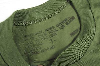 Vtg NOS 60s 1969 US Army GI OD Green Undershirt T Shirt Sz XX Small Vietnam War