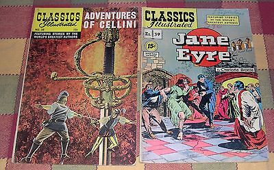 Adventures of Cellini  No. 38 June 1947 & Jane Eyre by Charlotte Bronte No. 39