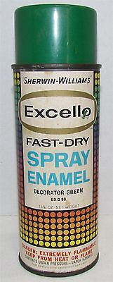Vintage Sherwin-Williams Excello Spray Paint Can, paper label