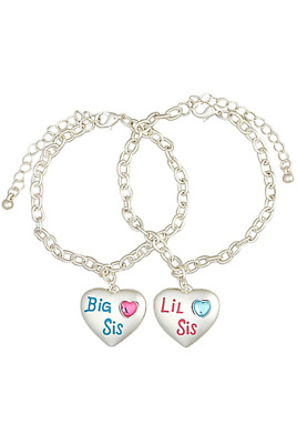 Justice Girl's SISTER Charm Bracelets New with Tags