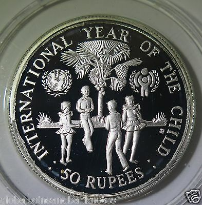 Seychelles : 1980 Year of the Child 50 Rupees - Silver Proof