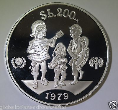Bolivia : 1979 Year of the Child 200 Peso Bolivares - Silver Proof