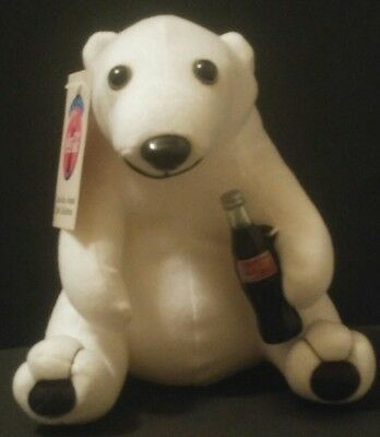 "COCA-COLA Plush POLAR BEAR 1993 Coke Bottle POP Soda 7"" GANZ NWT"