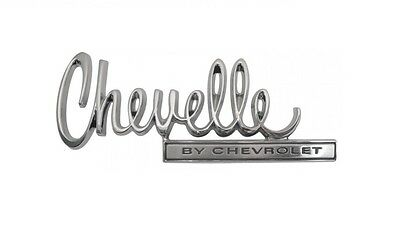 """USA-Made! 1970 Chevelle Trunk Lid Emblem """"Chevelle By Chevrolet"""" NEW Trim Parts!"""