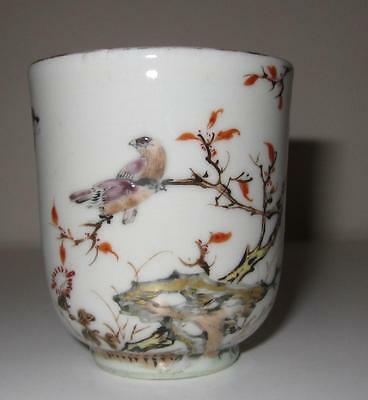 Unusual 18th Century Chinese Export Porcelain Coffee Cup