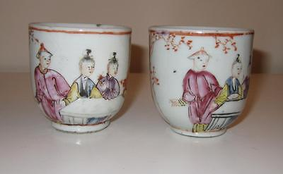2 18th Century Chinese Export Porcelain Cups