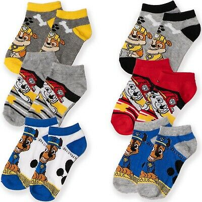 Paw Patrol Nickelodeon Boys Kids Trainer Cotton Socks Ankle Length Crew 3-PACK