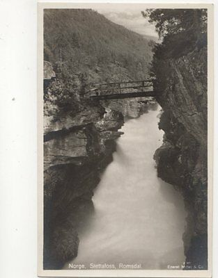 Norway Slettafoss Romsdal Norway Vintage RP Postcard 108b