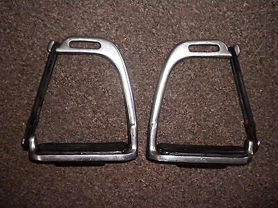 """4 1/4"""" Peacock Safety Stirrups With Treads."""