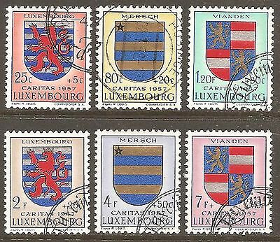 1957 Luxembourg Welfare Fund SG 629-634 Used (Cat £25)