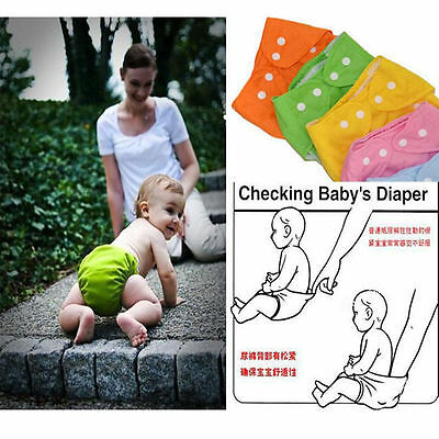 1 PCS Washable Cloth Nappy Diapers Adjustable Hot Covers 2016 Reusable Baby #wow