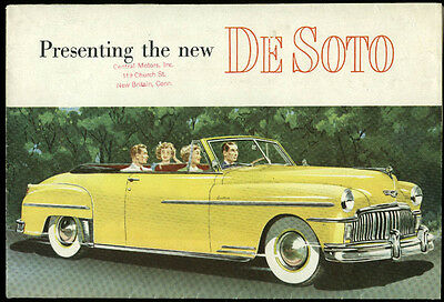 Presenting the New DeSoto 1949 sales brochure Carry-All Suburban Convertible +
