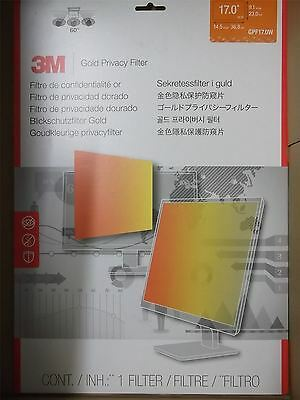 3M High Security Privacy Filter - Gold - Frameless - 17.0 inch Widescreen