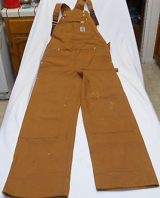 Vintage Carhartt Brand New 1980s Union Made in USA Overalls Sz 34x36