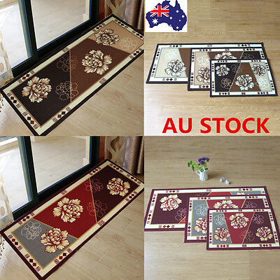 Long Narrow Small Hall Kitchen Floor Carpets Retro Floral Rugs Non-Slip Door Mat