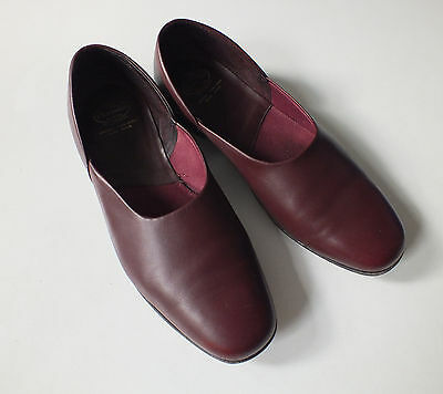Wine Red leather Hard Sole AJAX CHURCH's Slippers Shoes UK 12 £120