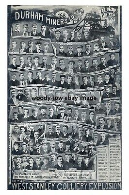 rp15089 - Miners lost in West Stanley Colliery Explosion 1909 - photo 6x4
