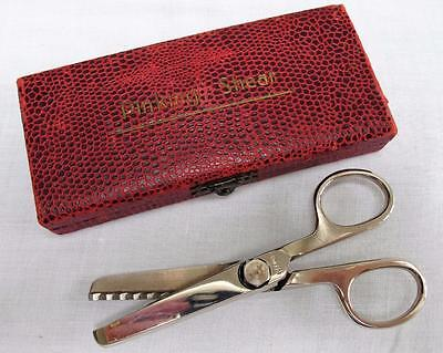 Vintage 1930's Steel Tailors Sewing Pinking Shears Scissors & Original Box