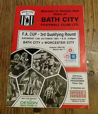 Bath  City V Worcester City  Fa  Cup 3Rd  Q  Round  1991