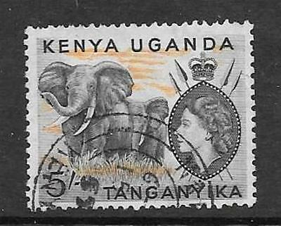 Kenya, Uganda & Tanganyika Sg178 1954 5/- Black & Orange Fine Used