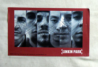 RARE Vinyl STICKER Decal LINKIN PARK Band Member Faces RED S2882 12.5cm x 7.5cm