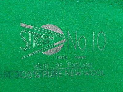 Strachan No. 10 Full Size 12Ft Snooker Tournament Green Cushion Cloth/baize