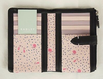 "Radley ""Cirencester"" Black Leather Bifold Purse Wallet Medium New RRP £55"