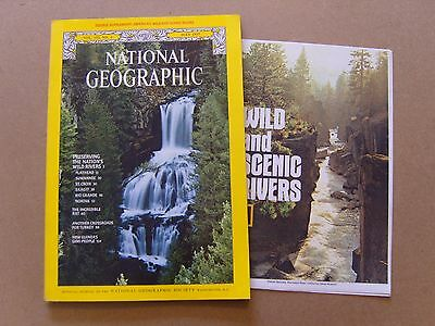 National Geographic Magazine - July 1977 - Americas Wild Rivers Map Included