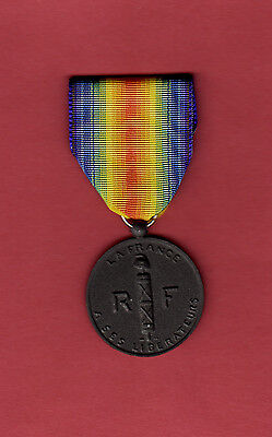 French Liberation Medal Wwii Ww2 France Metz Paris Us Army Normandy 101 St 82Nd