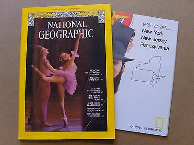National Geographic Magazine - January 1978 - Usa The North East Map Included
