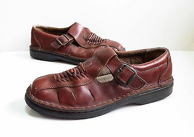 MENS CLARKS Brown leather Fisherman shoes/sandals Size 8 G