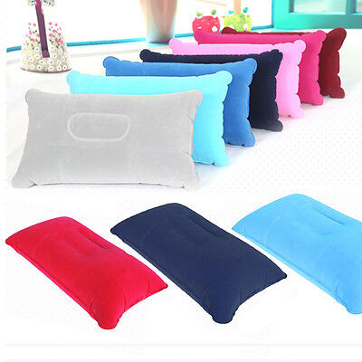 1/2 pcs Inflatable Pillow Travel Air Cushion Camping Beach Car Head Rest Support