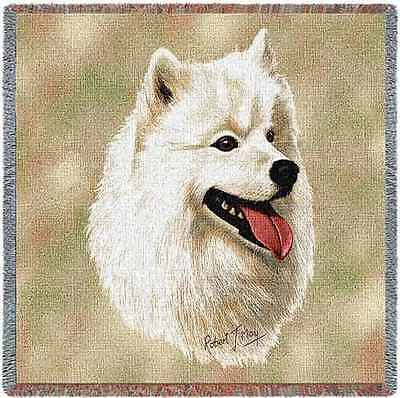 Lap Square Blanket - Samoyed by Robert May 1194