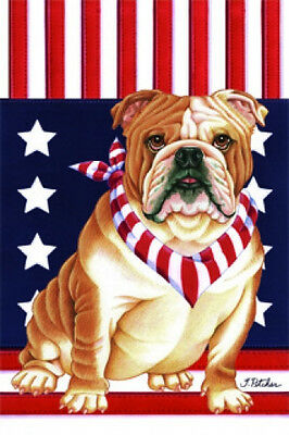 Large Indoor/Outdoor Patriot (TP) Flag - English Bulldog 75025