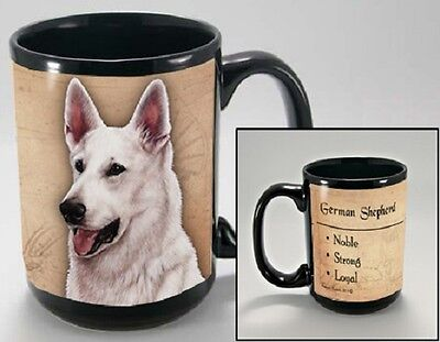 15 oz. Faithful Friends Mug - White German Shepherd MFF081