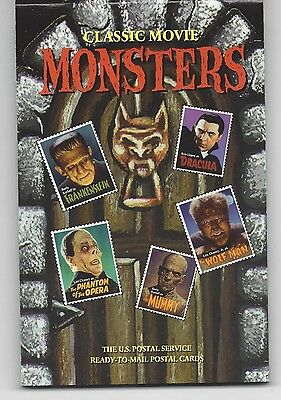 Classic Movie Monsters US Ready To Mail Postal Cards