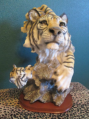 Resin Tiger And Cub Figurine/statue---Very Nice