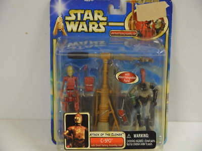 272) Star Wars Attack Of The Clones C-3PO with Droid Factory Assembly Line  *